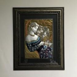 Сребърна картина Дамата с...