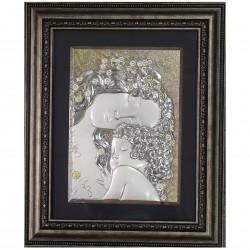 Сребърна картина Майка с дете
