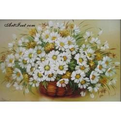 Картина по номера -КОШНИЦА МАРГАРИТКИ