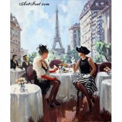 Картина по номера -КАФЕНЕ В ПАРИЖ