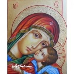 Картина по номера - Умиление на Св. Богородица с Исус Христос