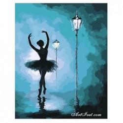 Картина по номера -Балерина в нощта