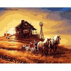 Картина по номера -Залез над златните житни полета