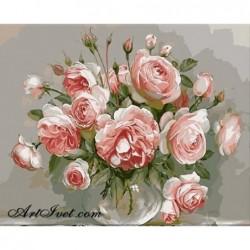 Картина по номера -Когато розите цъфтят