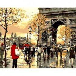 Картина по номера -Пред Триумфалната арка