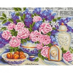 Картина по номера -Цветя и сладки