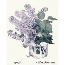 Картина по номера - Ароматно и виолетово