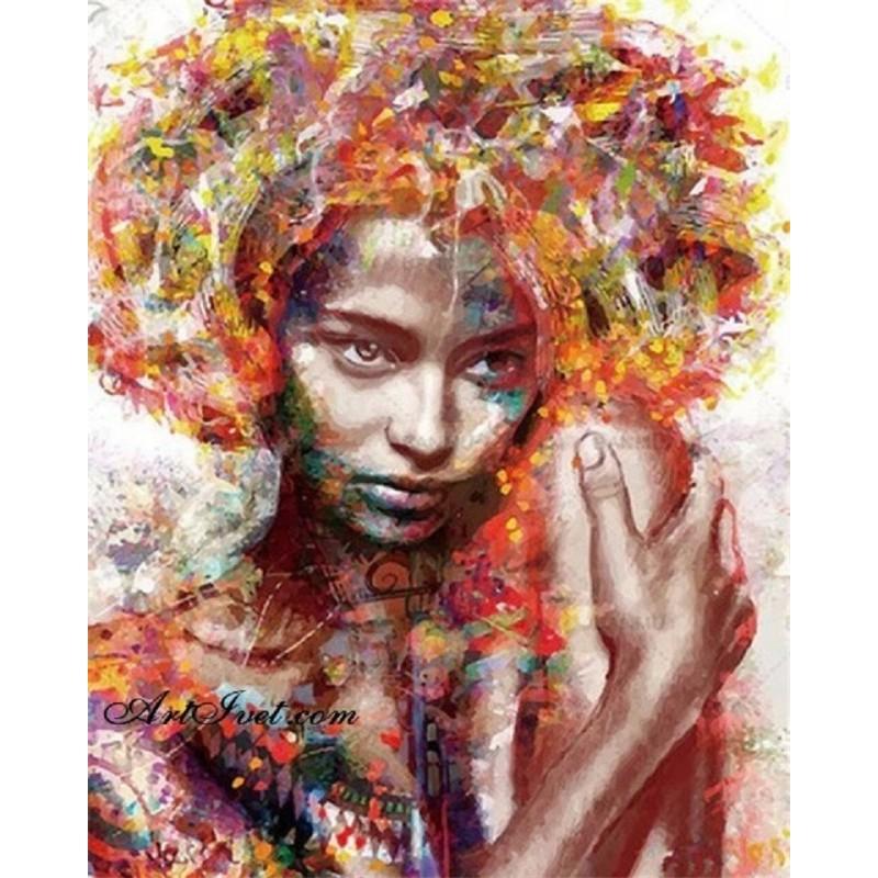 Картина за рисуване по номера - Абаносова красота