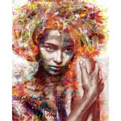 Картина по номера -Абаносова красота
