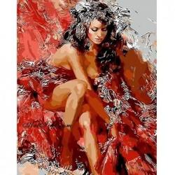 Картина по номера -Танцьорка