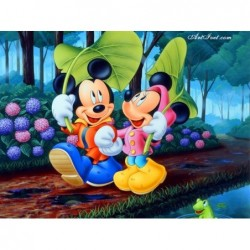 Картина по номера -В гората с Мини и Мики
