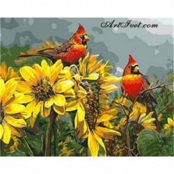 Картина по номера -Флирт върху слънчогледите