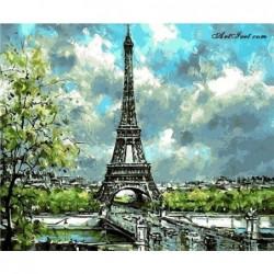 Картина по номера -Облaци и очарование в Париж