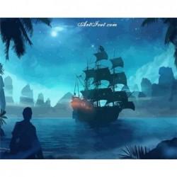 Картина по номера -Карибски пирати
