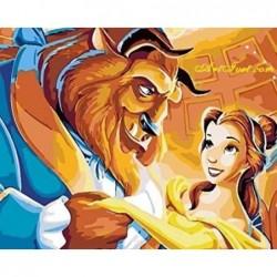 Картина по номера -Красавицата се влюбва в звяра