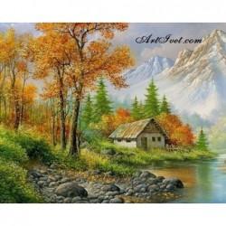 Картина за рисуване по номера - Когато започва есента