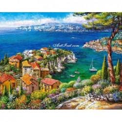 Картина за рисуване по номера - На  брега на Йонийско море