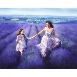 Картина за рисуване по номера - Мама и аз - време за обич
