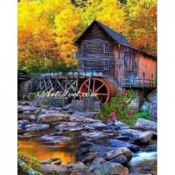 Картина за рисуване по номера - Есен край воденицата