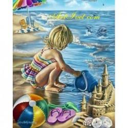 Картина за рисуване по номера - Мария и морето