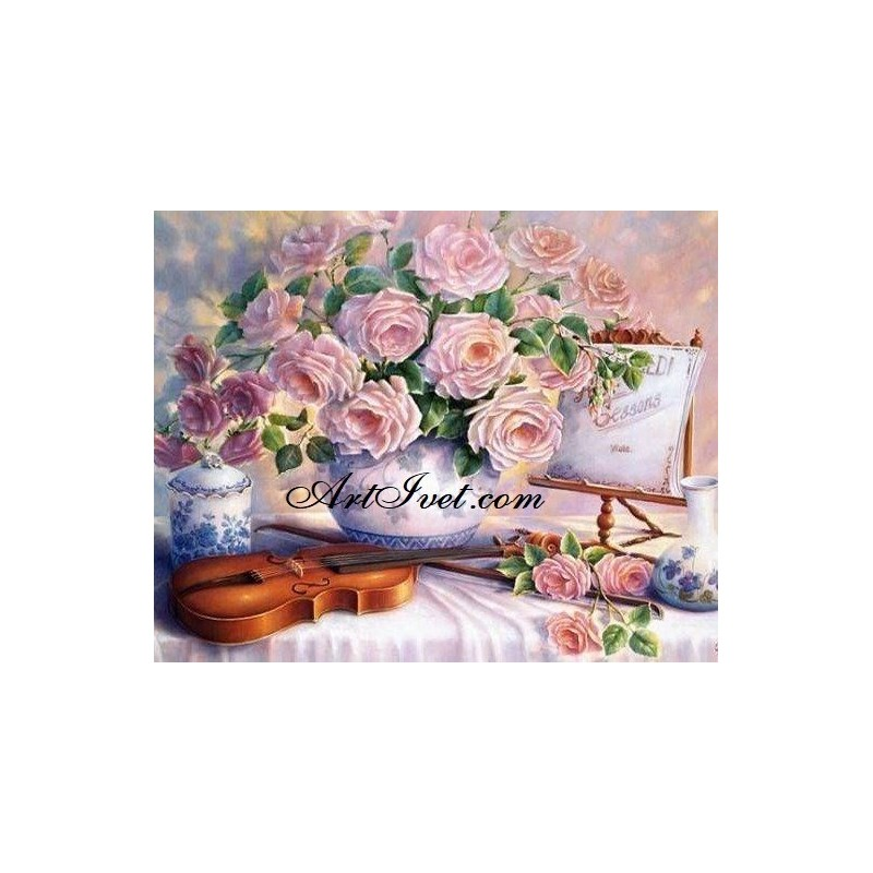 Картина за рисуване по номера - Цигулка