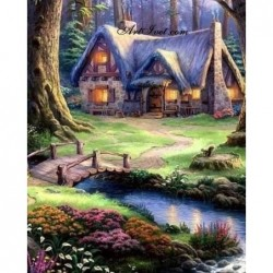 Картина за рисуване по номера - Къщата на феите
