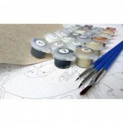 Картина за рисуване по номера - Маргаритки край панинското езеро