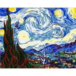Картина за рисуване по номера - Звездна нощ