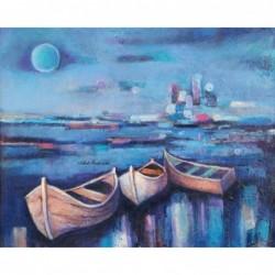 Картина за рисуване по номера - Лодки