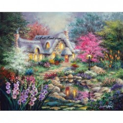 Картина по номера - Къщата на цветята