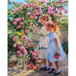 Картина по номера - До розовия храст