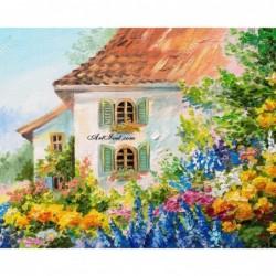 Картина по номера - Къща в цветната градина