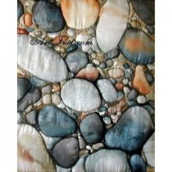 Картина по номера - Мозайка на речния бряг