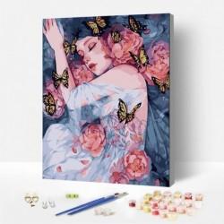 Картина по номера -  В прегръдката на пеперудите