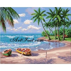 Картина по номера - Хавайски бриз