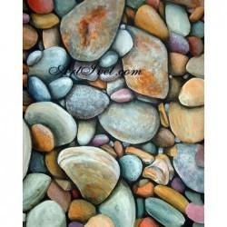 Картина по номера - Речни камъчета