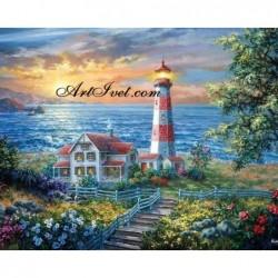 Картина по номера - Залез над фара