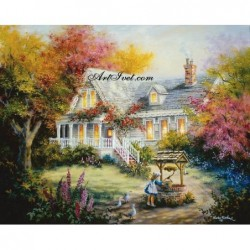 Картина по номера -Нашата къща на село