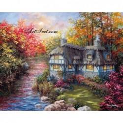 Картина по номера - На завоя на реката