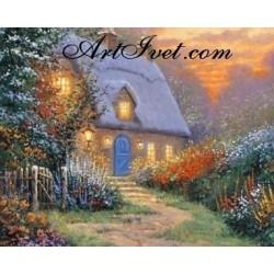 Картина по номера - Вечер в крайпътната къща