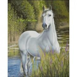 Картина по номера - Очакването на белия кон