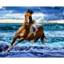Картина по номера -Да препускаш сред вълните