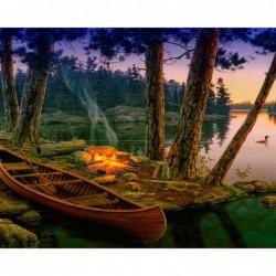 Картина по номера -Пикник на брега на реката
