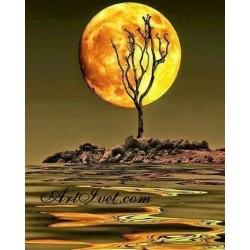 Картина по номера -Лунна прегръдка
