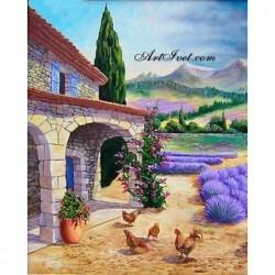 Картина по номера - Френски селски дом