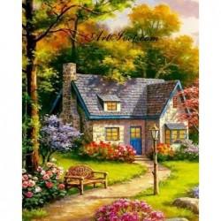 Картина по номера - Вила на село