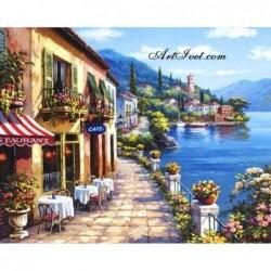 Картина по номера - Уличка до брега на морето
