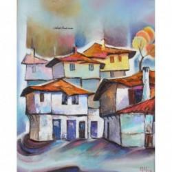 Картина по номера - Зима в Мелник