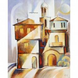 Картина по номера - Сутрин над Хаджи Георгиевата къща