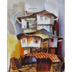 Картина по номера - Търновски къщи